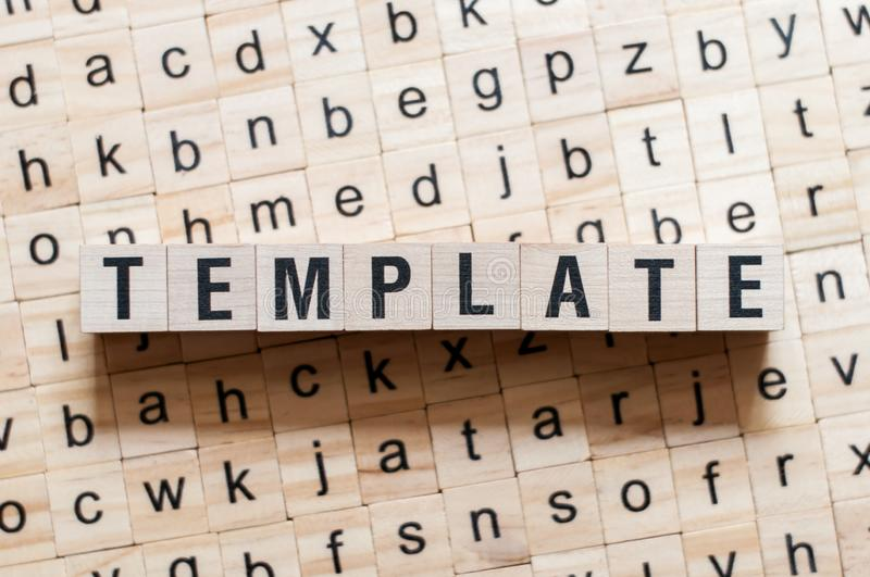 Template word concept royalty free stock photography