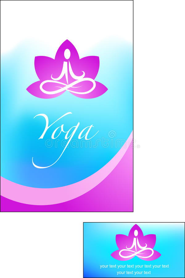 Template Of Yoga Brochure Royalty Free Stock Images