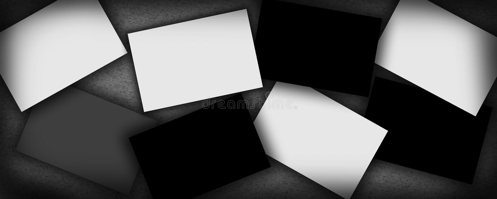 Template for your images, paintings portfolio. Or you can put inside the boxes whatever you want royalty free stock photos