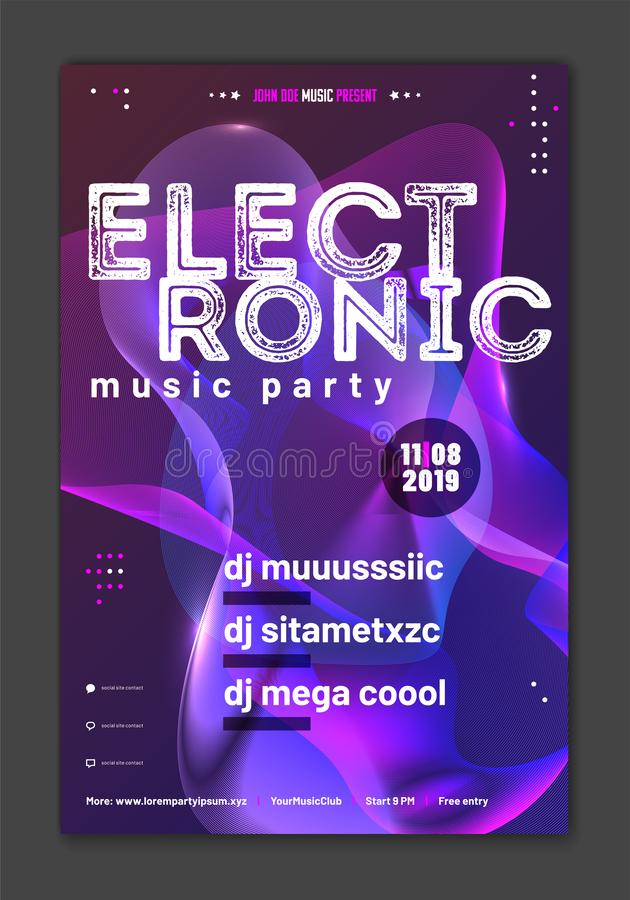 Template for your music party poster vector illustration