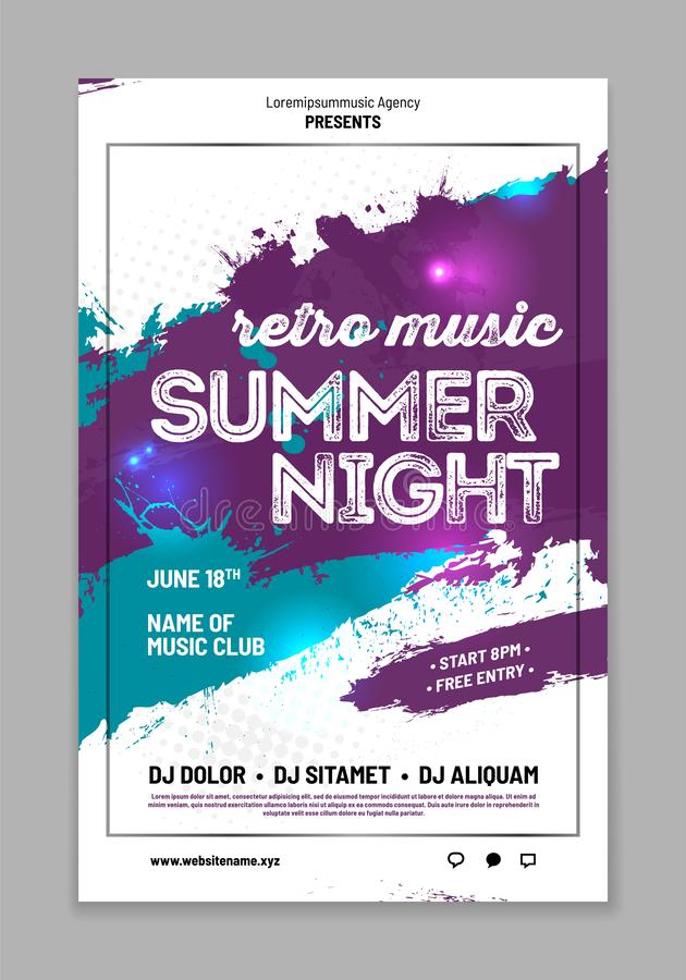 Template for your party poster with grungy background vector illustration
