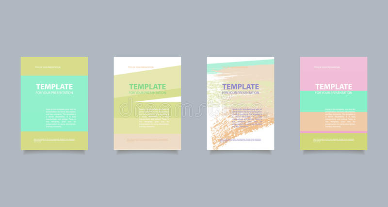 Template for your presentation stock illustration