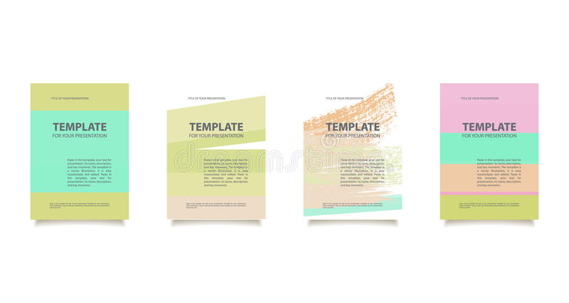 Template for your presentation vector illustration