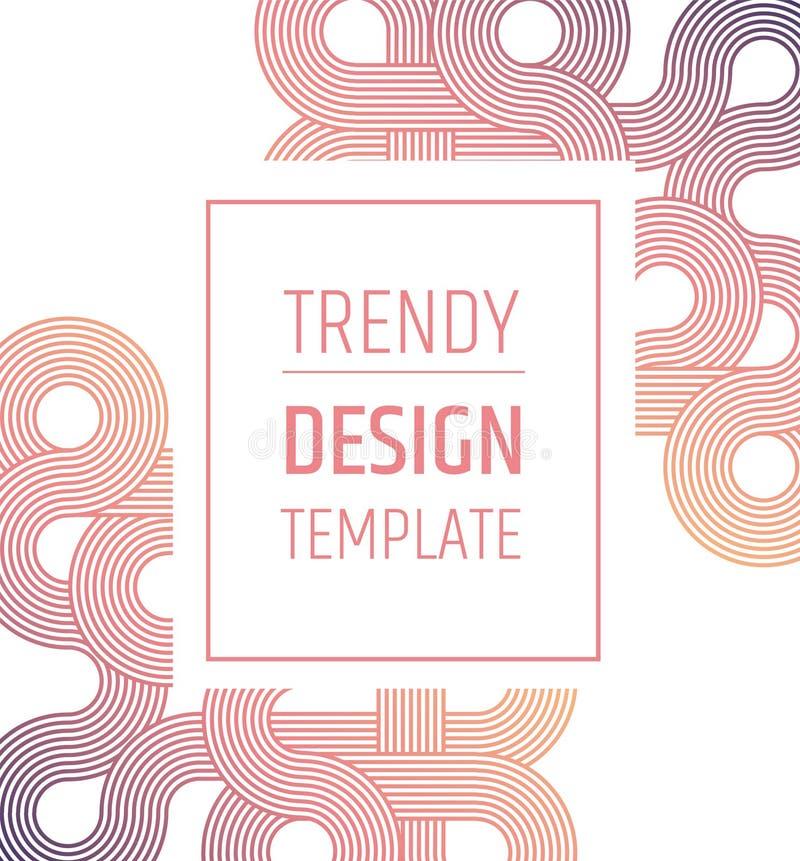 templated的时髦设计 Minimalistic典雅的布局 安置文本 梯度样式 皇族释放例证