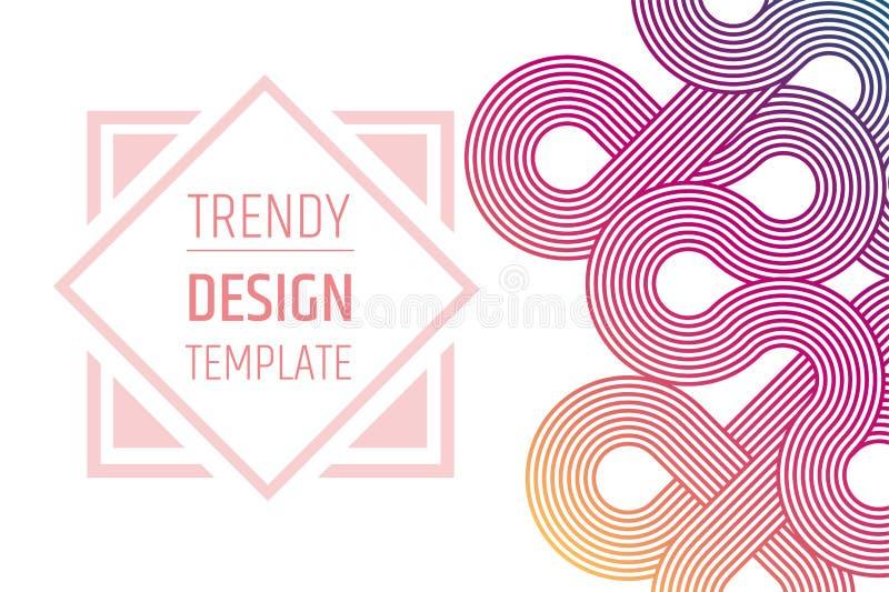 templated的设计 Minimalistic时髦布局 安置文本 梯度样式 皇族释放例证