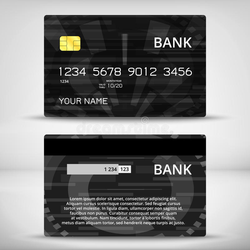 Templates Of Credit Cards Design Stock Vector