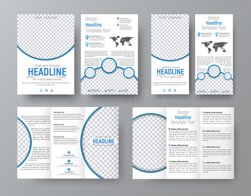 Templates Of Flyers Brochures Of Standard Size For Business Wit