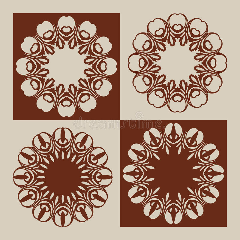 Templates For Laser Cutting Decorative Panels Stock Vector ...