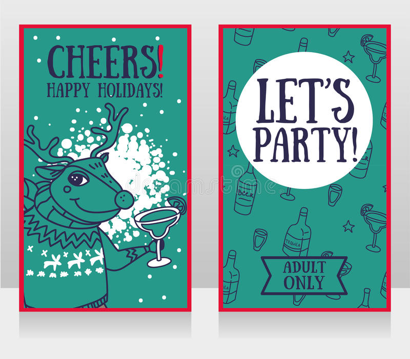 Templates For Party Invitations, Christmas Deer Drinking Alcohol ...