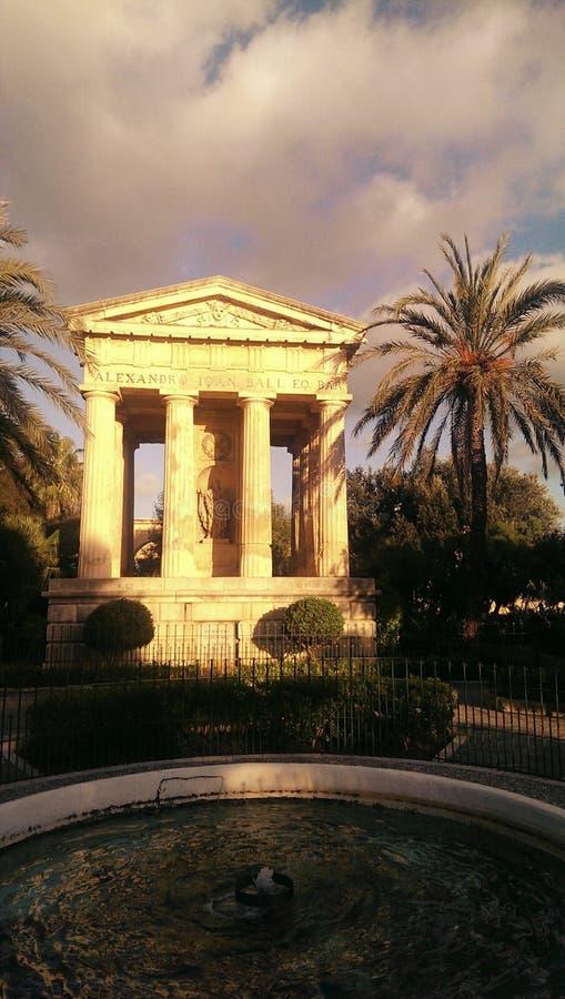 Temple à Malte image libre de droits