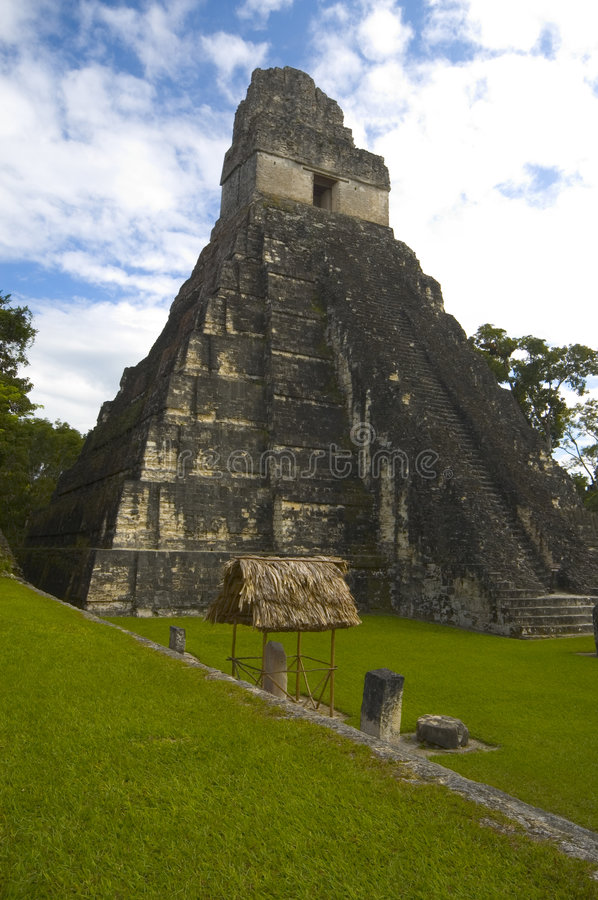 Temple 1 tikal royalty free stock images
