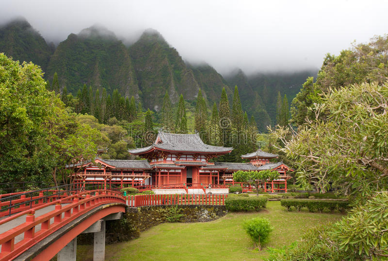 Download Temple stock photo. Image of koolau, buddhist, clouds - 15670326