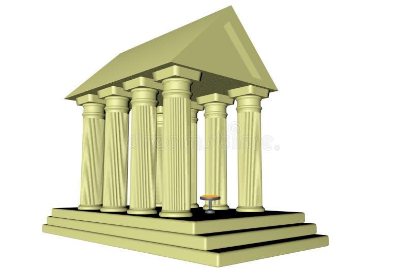 Temple illustration stock