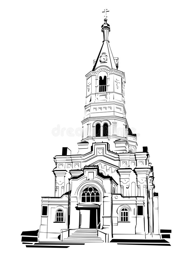 Temple. Vector religious temple, church on white background vector illustration