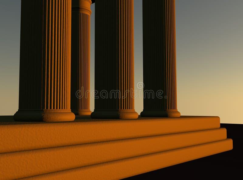 Temple illustration de vecteur
