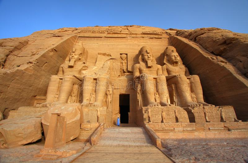 The temple of Abu Simbel in Egypt stock images