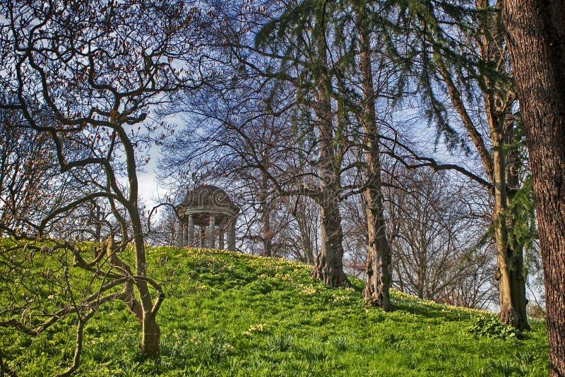 Temple of Aeolus in spring, Royal Botanic Gardens, Kew, UNESCO World Heritage Site, London, England, United Kingdom, Europe royalty free stock images