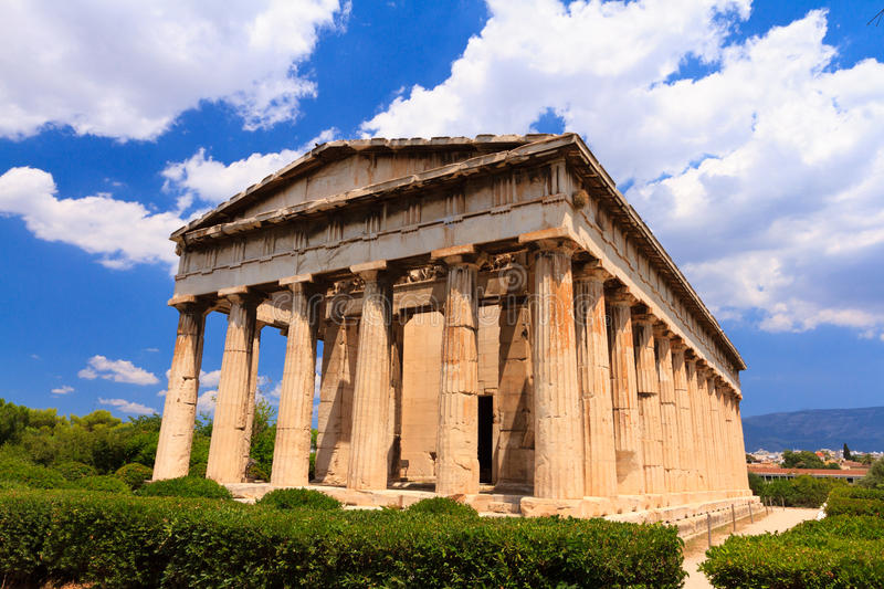 Download Temple in Agora at Athens stock image. Image of antique - 32351881