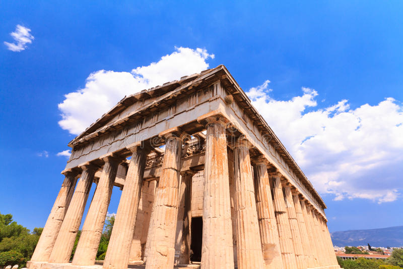 Download Temple in Agora at Athens stock photo. Image of classical - 32433858