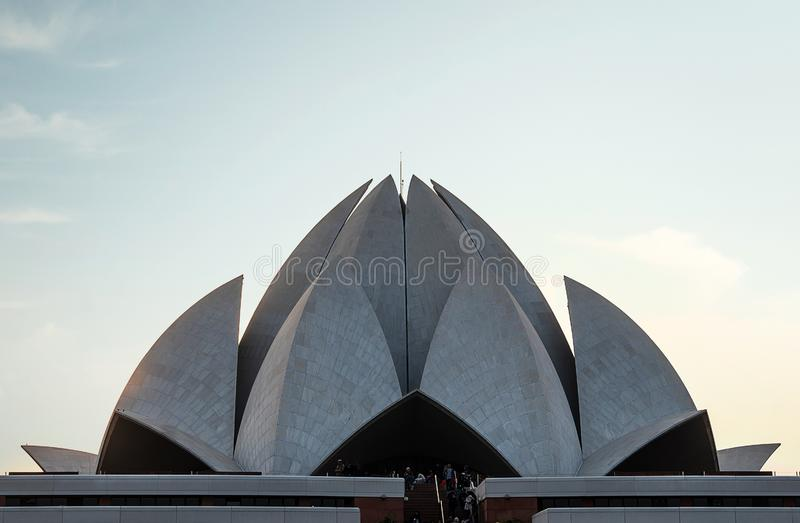 temple of all religions. Lotus Temple. The The Bahai House Lotus Temple - temple for representatives of major religions of the wor stock image