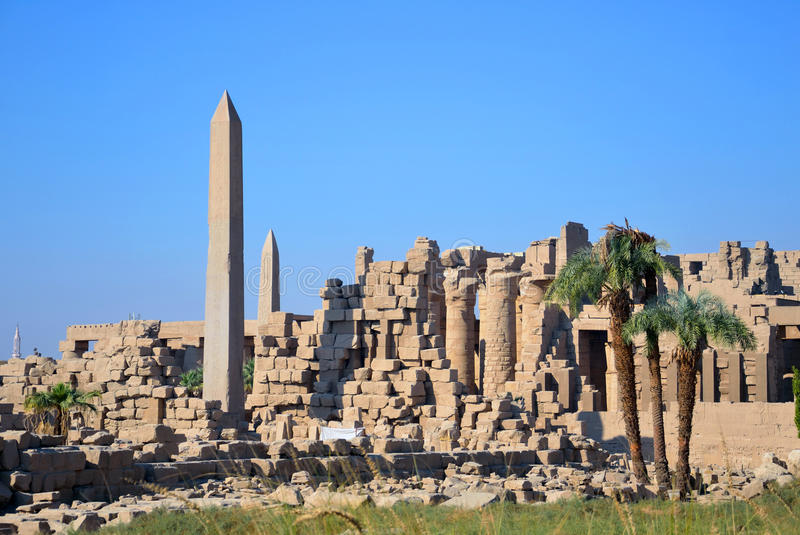 Temple of Amun. At Karnak temple complex in Luxor,Egypt stock photo