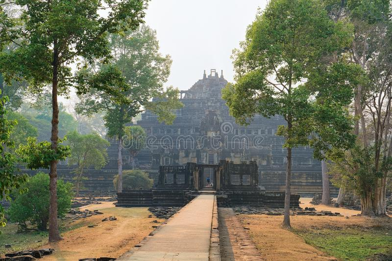 Temple at Angkor Thom complex Siem Reap Cambodia. Temple at Angkor Thom complex, Siem Reap, in Cambodia royalty free stock photography