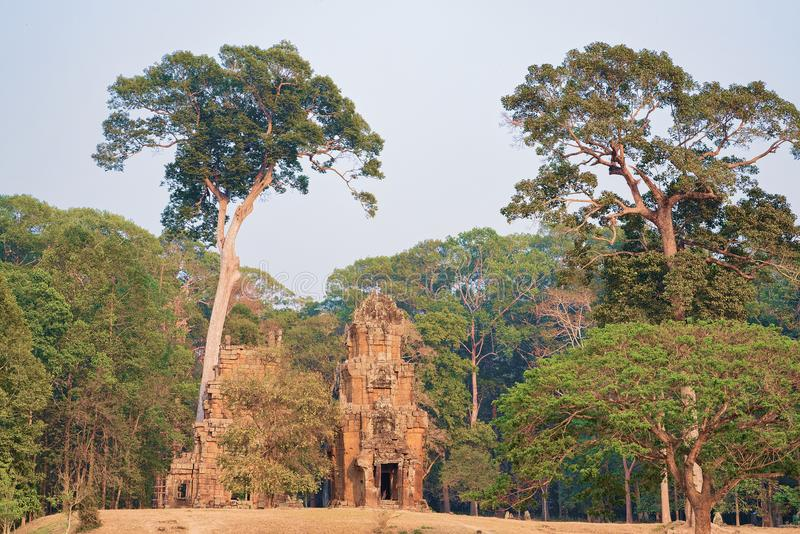 Temple in Angkor Thom complex Siem Reap Cambodia. Temple at Angkor Thom complex, Siem Reap, in Cambodia stock photo