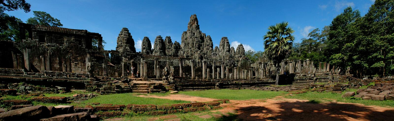 Temple Angkor Wat de Bayon photos stock