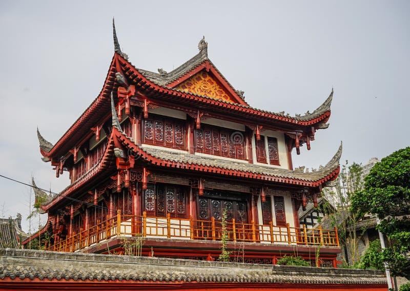 Temple antique à Chengdu, Chine image stock