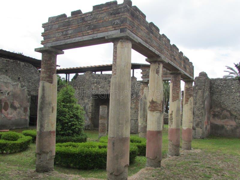 Temple antique à Pompeii photos libres de droits