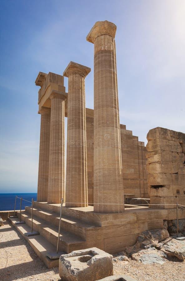 Temple antique d'Athéna image stock