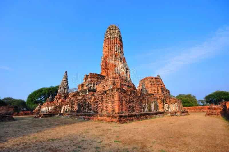 Temple antique d'Ayutthaya, Thaïlande. images libres de droits