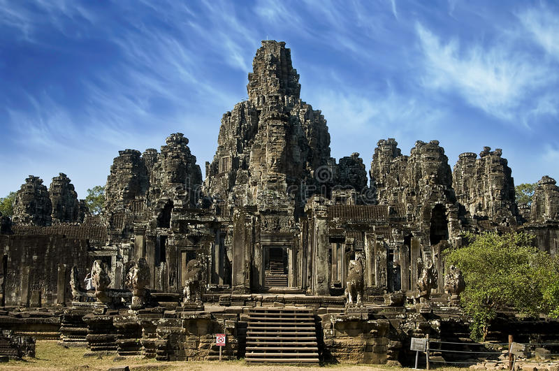 Temple antique dans Angkor Wat, Cambodge photos stock