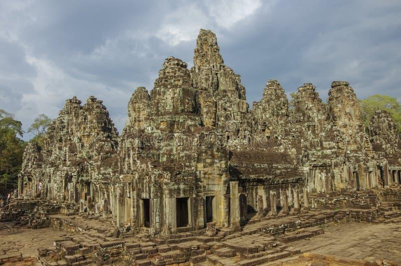Temple antique de Bayon dans Angkor Vat, Siem Reap image libre de droits