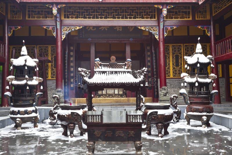 Temple antique de Huanglong image stock
