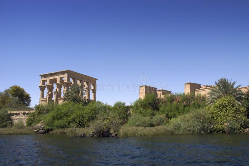 Temple antique de l'Egypte de Philae, ruines, course photographie stock