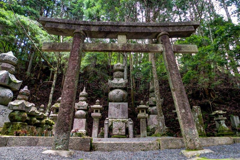 Temple antique en Koya San Wakayama Osaka photographie stock