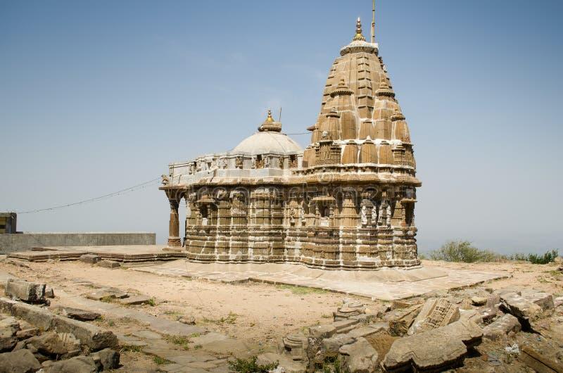Temple antique fait en pierre image libre de droits