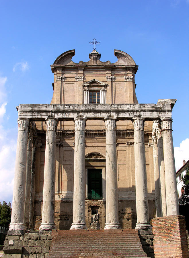 Download Temple Of Antoninus And Faustina In Rome Stock Photo - Image: 33362700