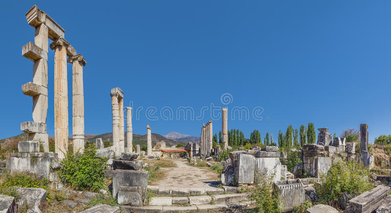 Temple of Aphrodite stock images