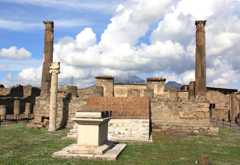 Temple of Apollo. The Temple of Apollo in Pompeii, Italy royalty free stock images