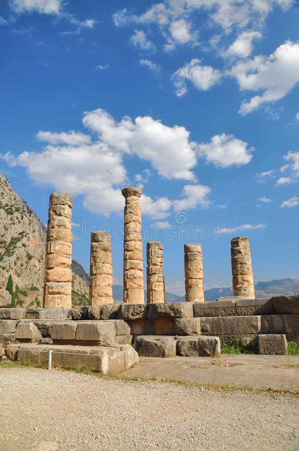 Download The Temple Of Apollo At Delphi Stock Image - Image: 16843621