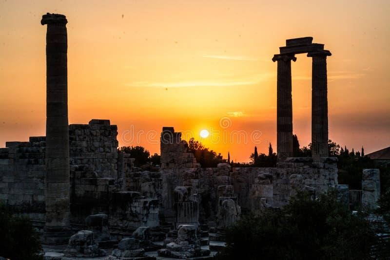 Temple of Apollo Didyma. Aydın turkey stock photos