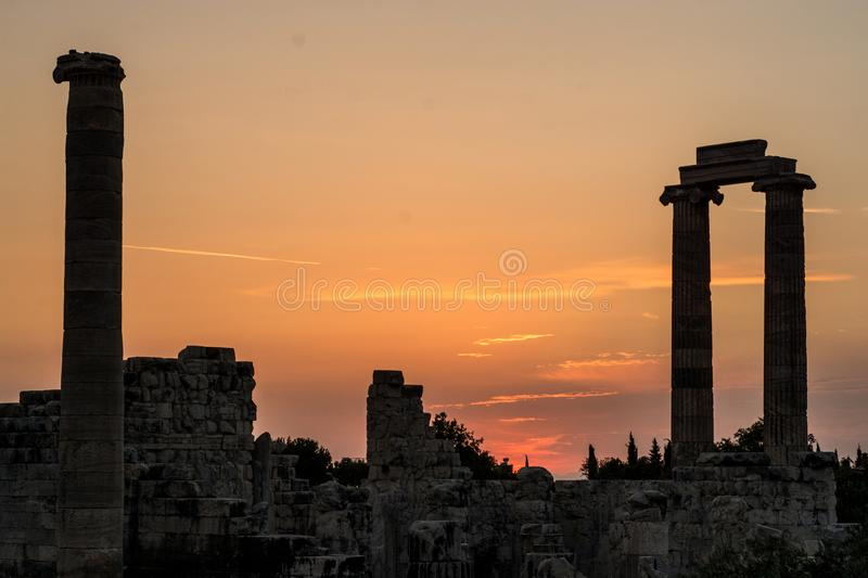 Temple of Apollo Didyma stock photos