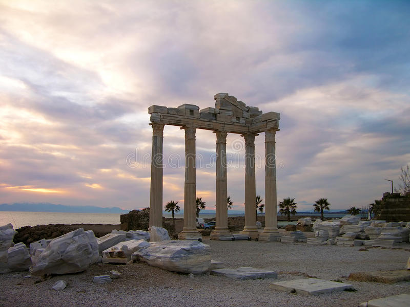 Temple of Apollo, Side, Turkey stock photography