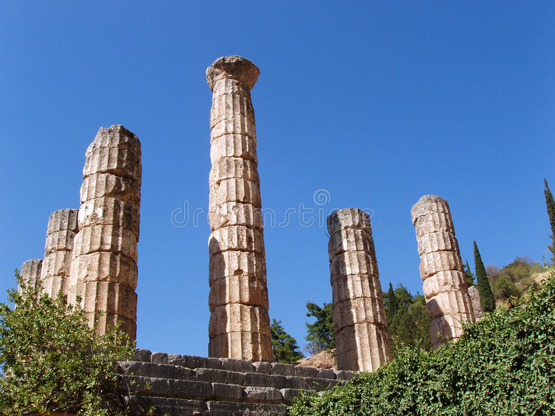 Temple of Appolo royalty free stock photos