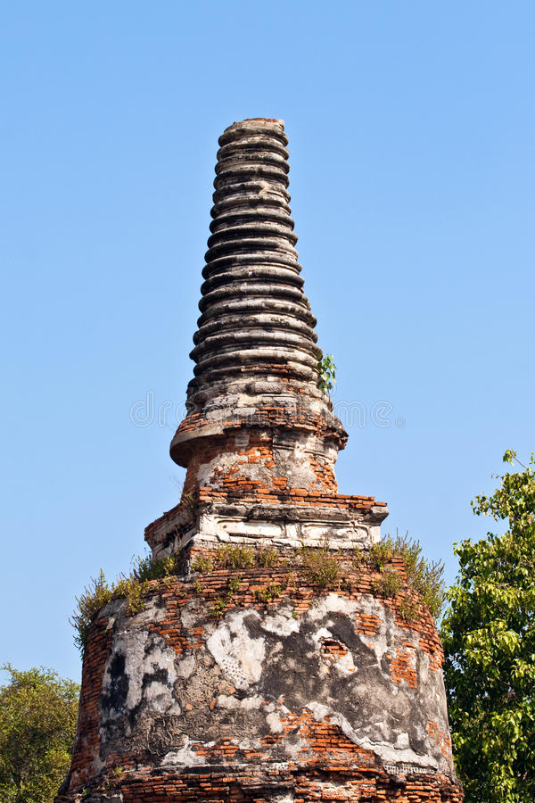 Temple area Wat Phra Si Sanphet, Royal Palace in Ayutthaya stock photo
