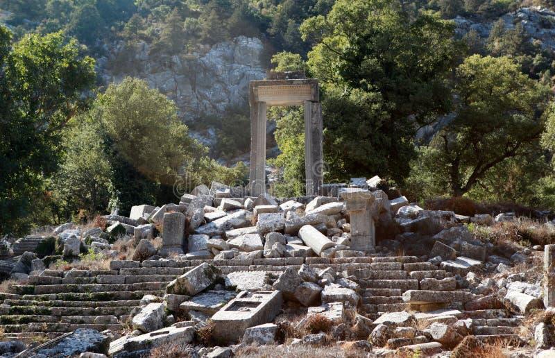 Temple of Artemis-Hadrian in Termessos, Antalya. stock photos