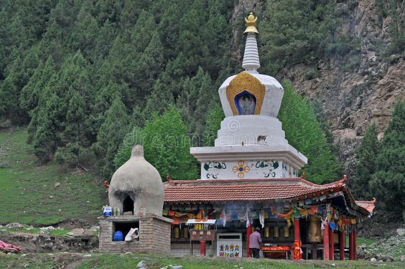 Temple asiatique, culture orientale, civilisation orientale, tourisme du Qinghai photo stock