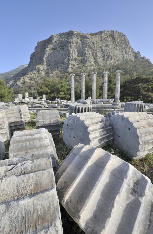 Temple of Athena at Priene stock image